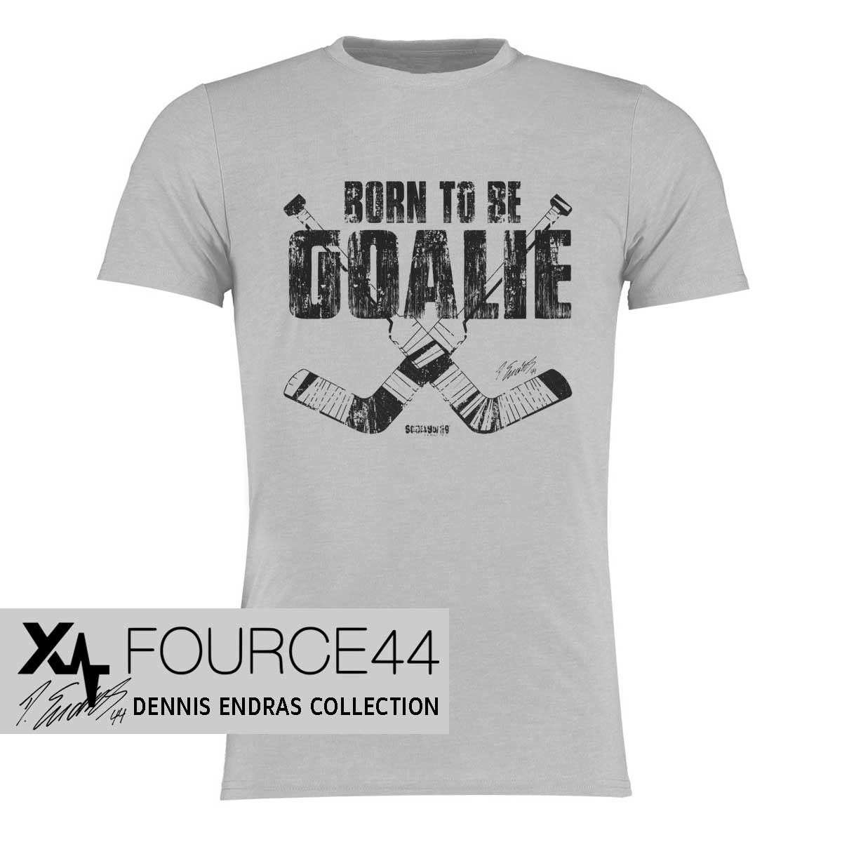 Dennis Endras Born to be a Goalie T-Shirt von SCALLYWAG®