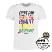 SCALLYWAG® Eishockey T-Shirt Hockey is Diversity von Gründer Martin Hyun