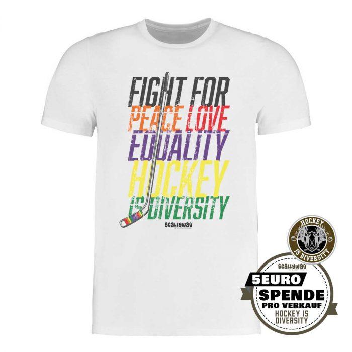 SCALLYWAG® Eishockey T-Shirt Hockey is Diversity von Gründer Martin Hyun