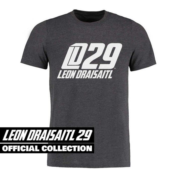 Eishockey T-Shirt von SCALLYWAG® Modell LD29 Leon Draisaitl Logo Dunkelgrau