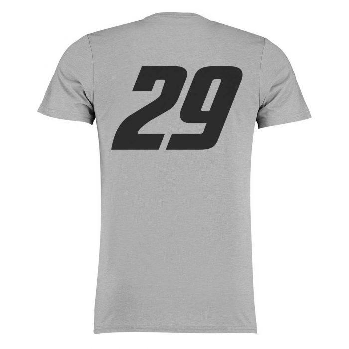 Eishockey T-Shirt von SCALLYWAG® Modell LD29 Leon Draisaitl Trikot Nummer Grau Rückseite