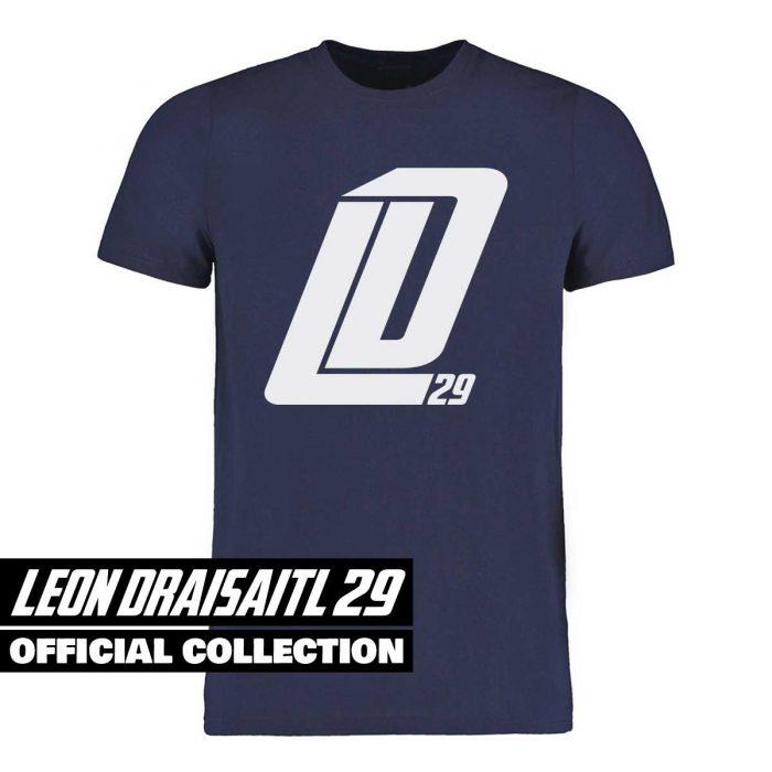 Eishockey T-Shirt von SCALLYWAG® Modell LD29 Leon Draisaitl Fanshirt Navyblau