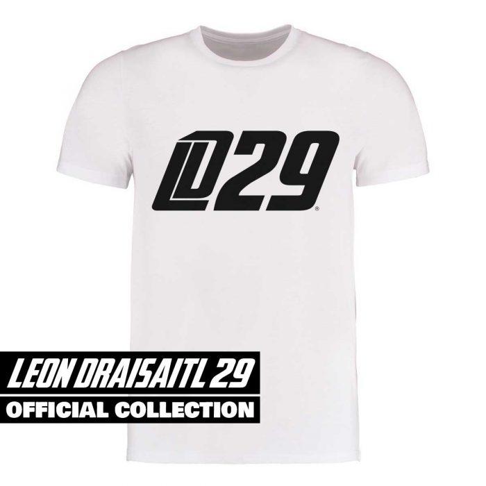 Eishockey T-Shirt von SCALLYWAG® Modell LD29 Leon Draisaitl Logo Weiß
