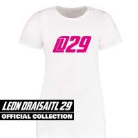 Eishockey T-Shirt von SCALLYWAG® Modell LD29 Leon Draisaitl Girls Weiß/Pink