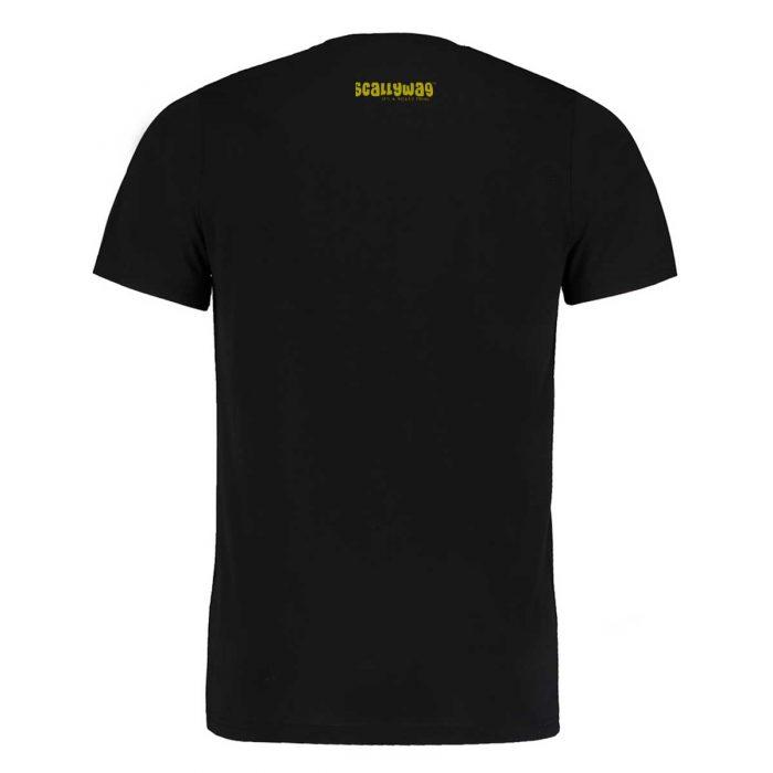Eishockey T-Shirt von SCALLYWAG® Modell FIRST LOVE Schwarz Rückseite