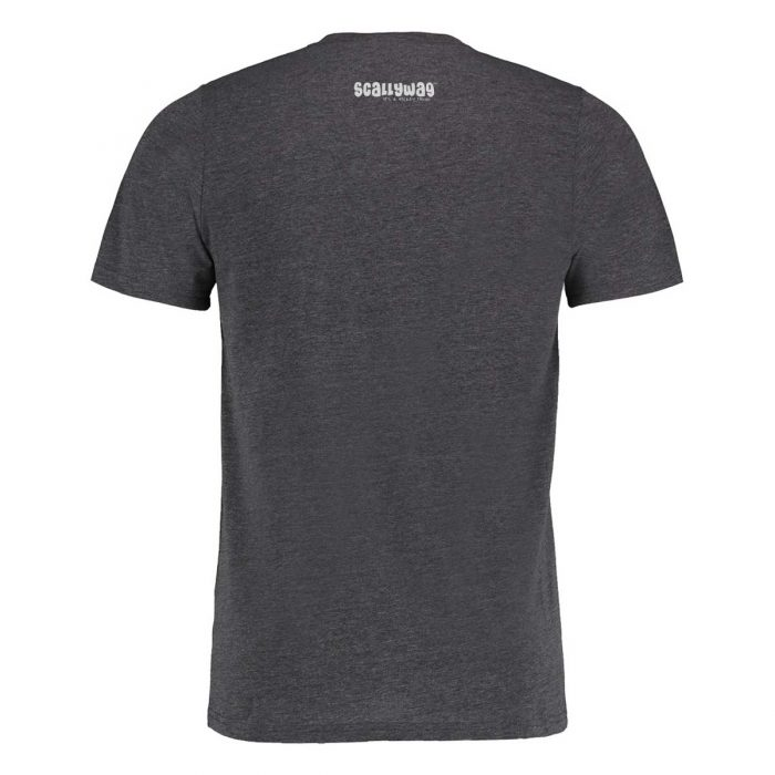 Eishockey T-Shirt von SCALLYWAG® Modell SCOREBOARD Dark Grey Rückseite