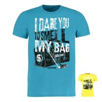 Eishockey T-Shirt von SCALLYWAG® Modell SMELL MY BAG türkis