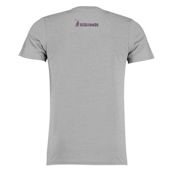 Eishockey T-Shirt von SCALLYWAG® Modell HOCKEY RELIGION Light Grey Rückseite