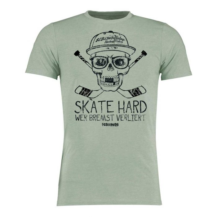 Eishockey T-Shirt von SCALLYWAG® Modell SKATE HARD.