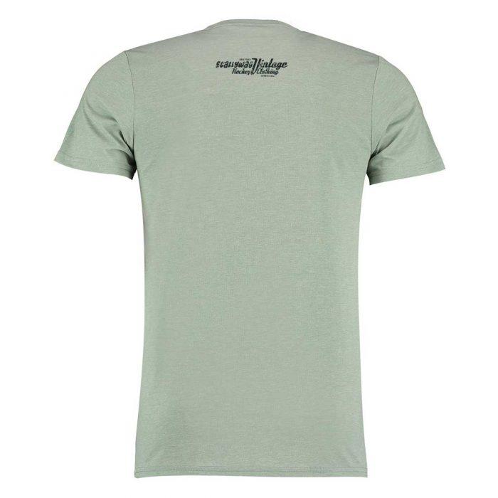 Eishockey T-Shirt von SCALLYWAG® Modell SKATE HARD Light Green Rückseite