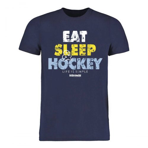 Eishockey T-Shirt von SCALLYWAG® Modell EAT SLEEP HOCKEY