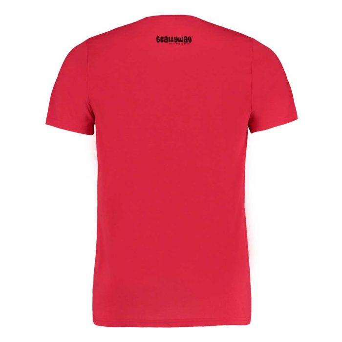 Eishockey T-Shirt von SCALLYWAG® Modell HOCKEY ZOMBIE Rot Rückseite
