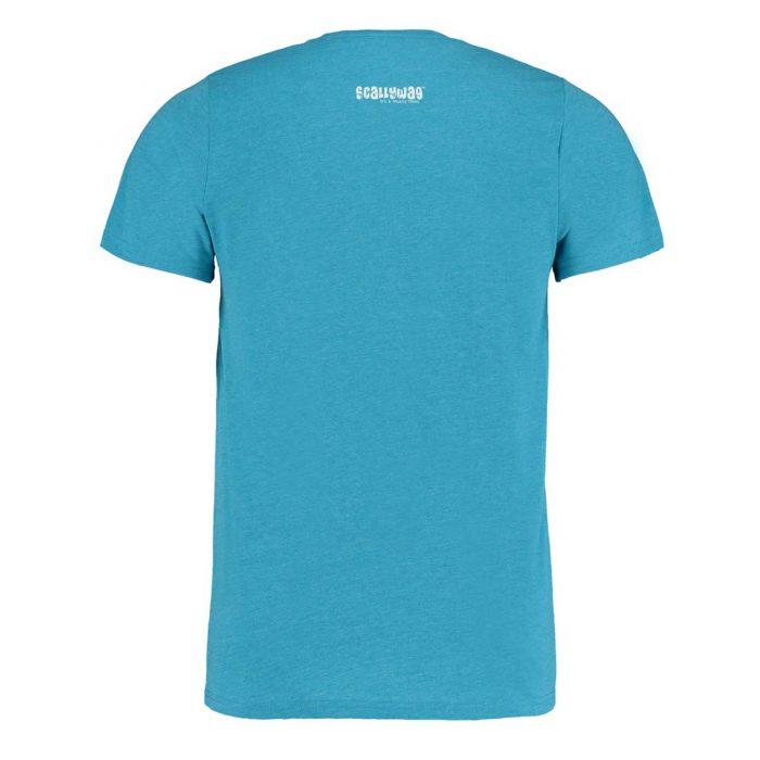 Eishockey T-Shirt von SCALLYWAG® Modell HAPPY ICE Türkis Rückseite