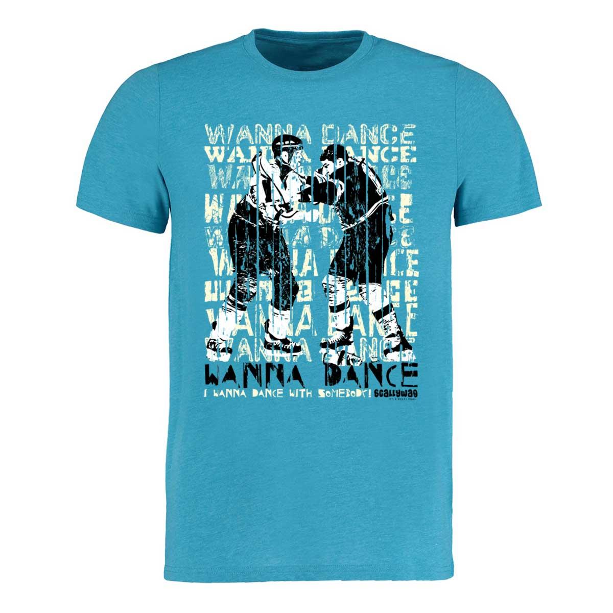 Eishockey T-Shirt von SCALLYWAG® Modell WANNA DANCE Türkis.