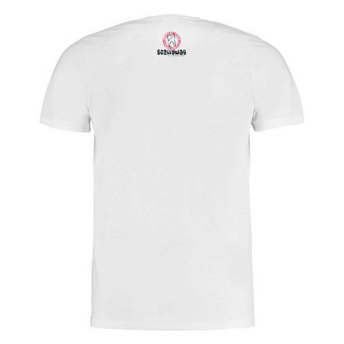 Eishockey T-Shirt von SCALLYWAG® Modell SMILE Weiß Rückseite