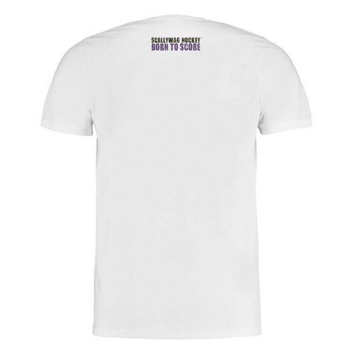 Eishockey T-Shirt von SCALLYWAG® Modell SCALLY ROGER Weiß Rückseite