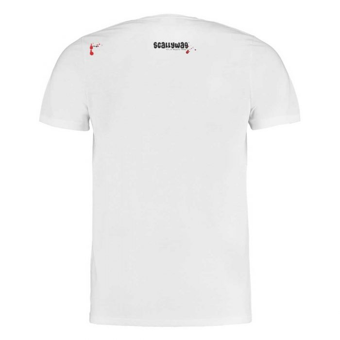 Eishockey T-Shirt von SCALLYWAG® Modell GIVE BLOOD Rückseite.