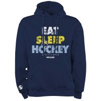 Eishockey Hoodie SCALLYWAG® Modell EAT SLEEP HOCKEY.