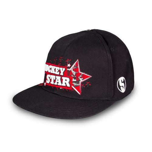 Eishockey Cap von SCALLYWAG® Modell HOCKEY STAR. Ansicht SCALLYWAG®-Logo.