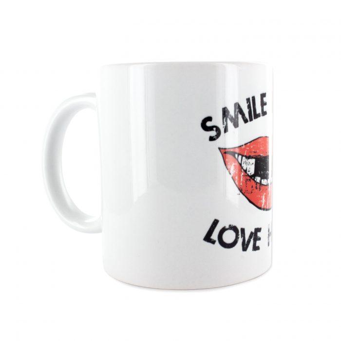 Eishockey Tasse von SCALLYWAG® Modell SMILE, Seitenansicht.