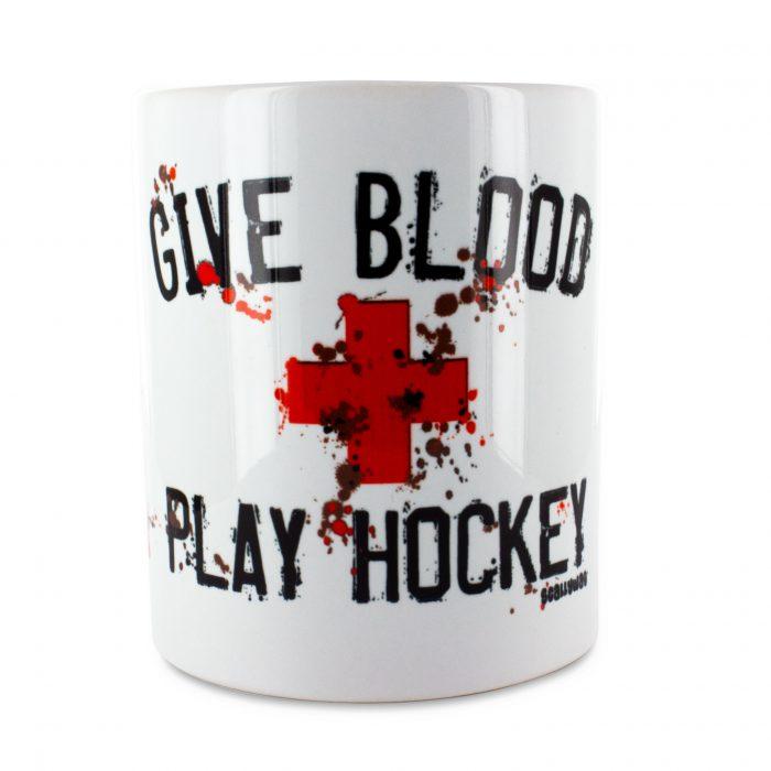 Eishockey Tasse von SCALLYWAG® Modell GIVE BLOOD.