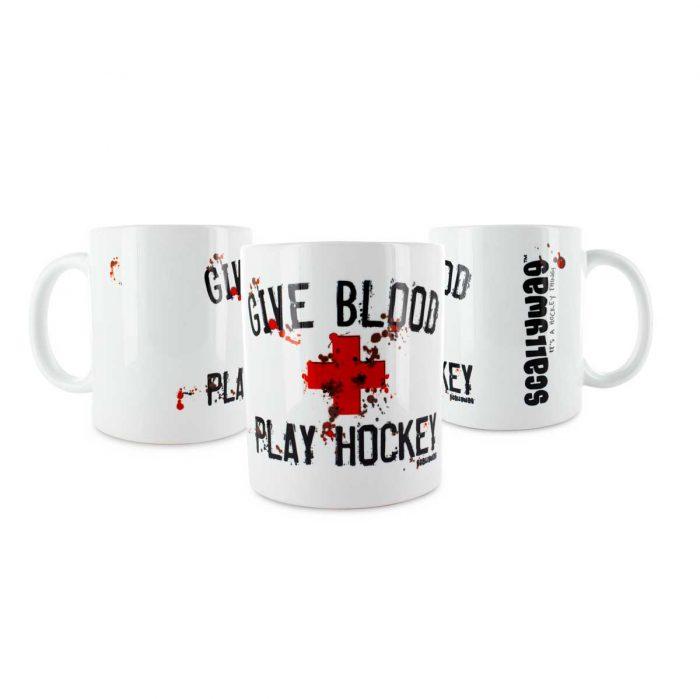 Eishockey Tasse von SCALLYWAG® Modell GIVE BLOOD