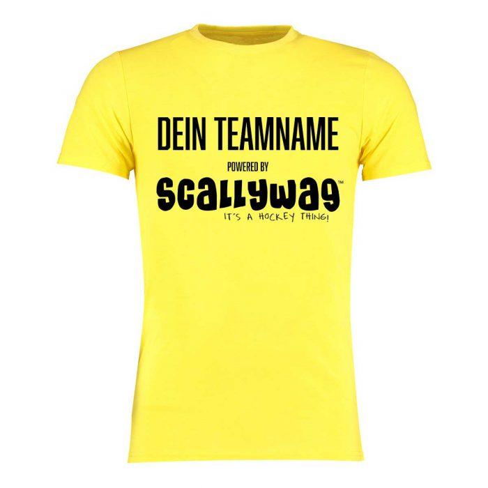 Eishockey T-Shirt von SCALLYWAG® Modell SPONSORED T-SHIRT gelb: Eishockey Shirt bedrucken nur 19,95€