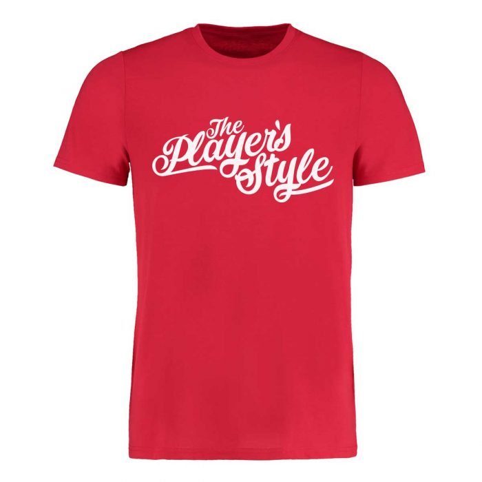 Eishockey T-Shirt von SCALLYWAG® Modell THE PLAYER'S STYLE rot.