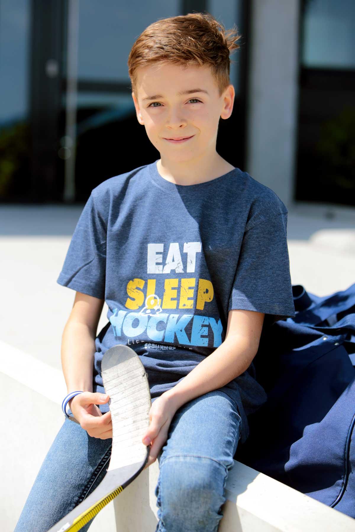 SCALLYWAG® HOCKEY T-Shirt Kids EAT SLEEP HOCKEY