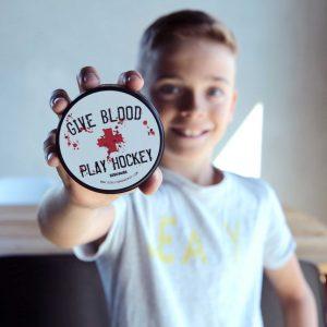 Eishockey Puck GIVE BLOOD