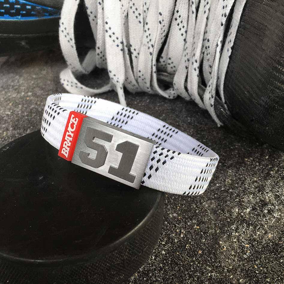 BRAYCE Armband Hockey Lace weiß
